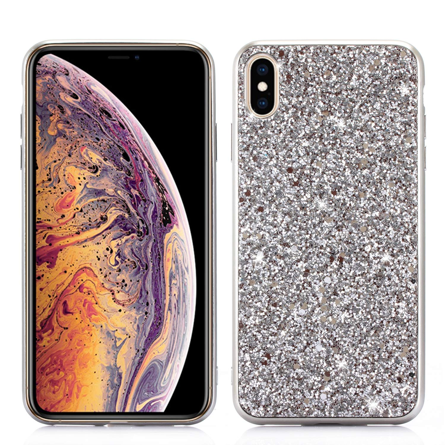 coque iphone xs max brillante licorne