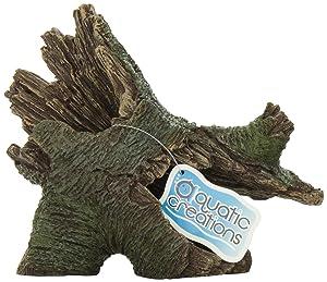 Aquatic Creations hollow tree trunk aquarium decorations