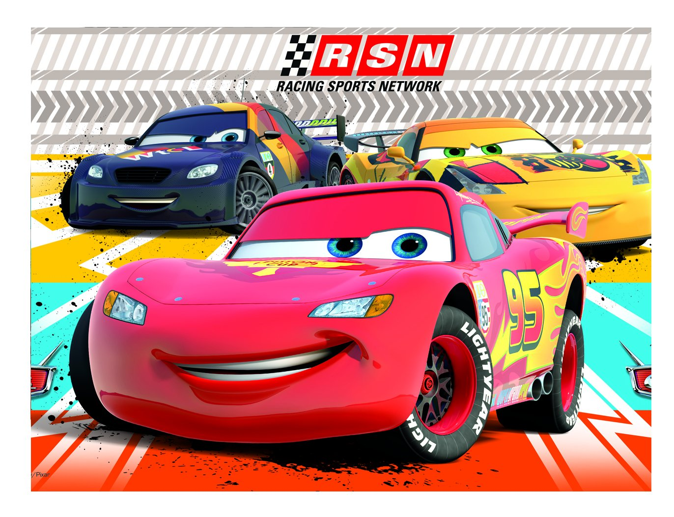 Disney Amscan Cars Racing Sports Network Plastic Table Cover Party Accessory Amscan International 81561