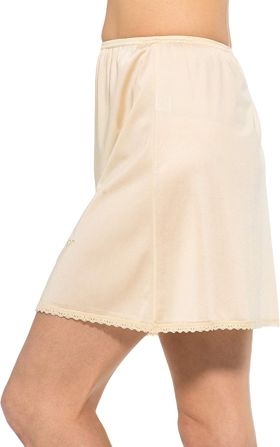 Best Seller! Gemsli Womens Classica Cling Free Nylon Half Slip with Tiny Lace