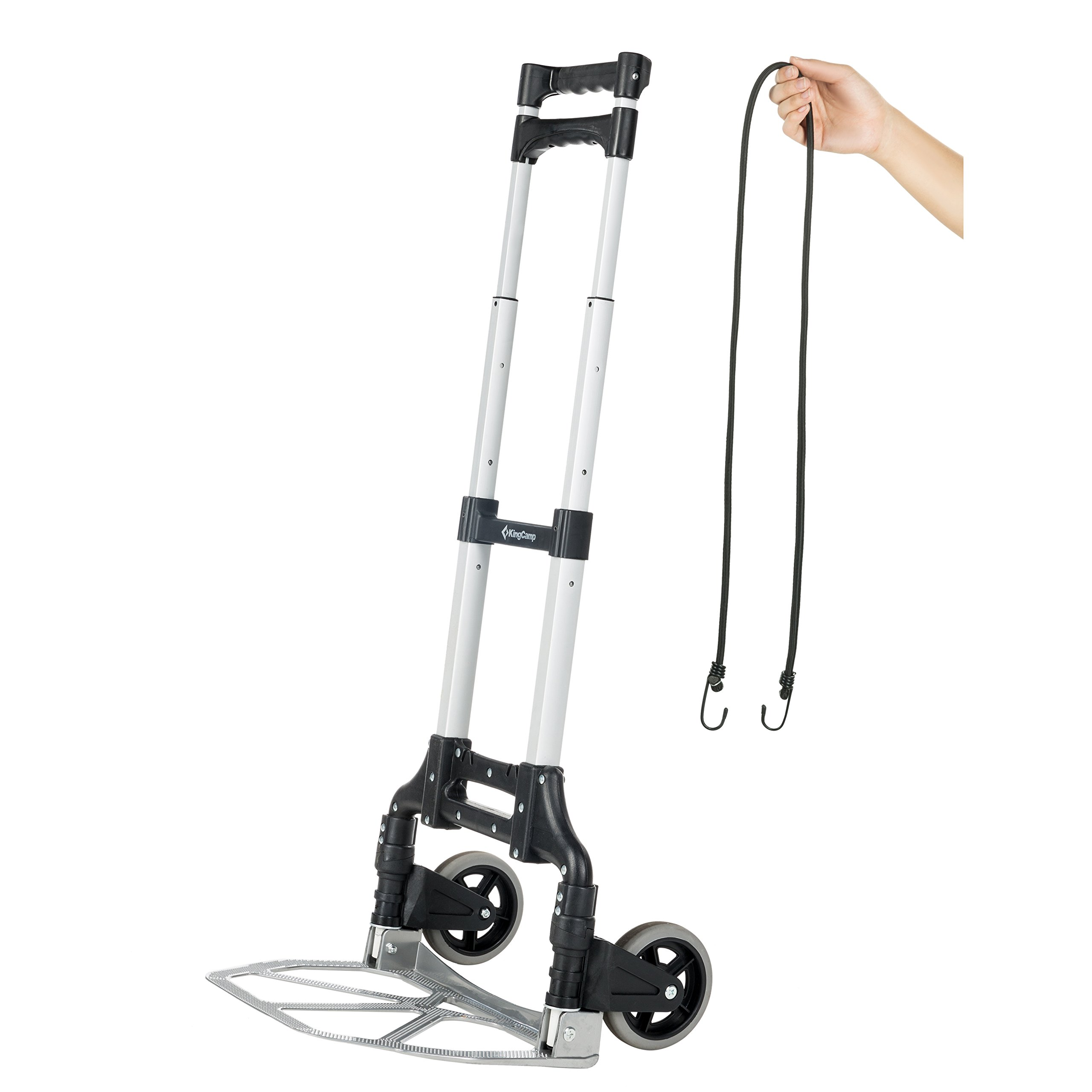 KingCamp Folding Cart 150 lbs Capacity Hand Truck with Bungee Cord
