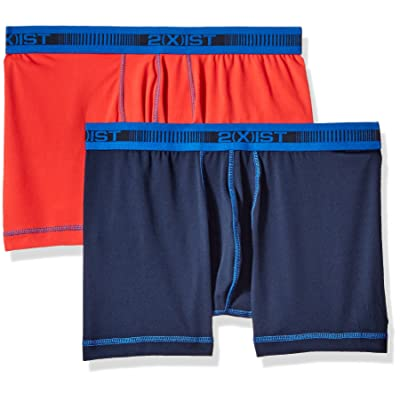 2(X)IST Men's 2-Pack Performance Micro No Show Boxer Brief