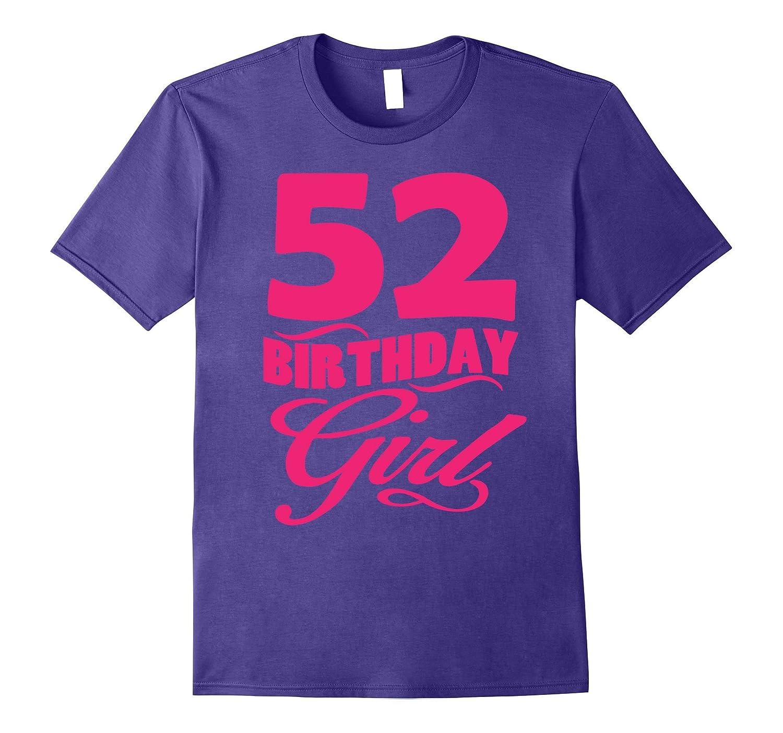Womens 52th Birthday Girl 1965 Pink T-shirt-PL