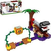 LEGO 71381 Super Mario Chain Chomp Jungle Ontmoeting Uitbreidingsset, Bouwbaar Spel met Bramball-Figuur