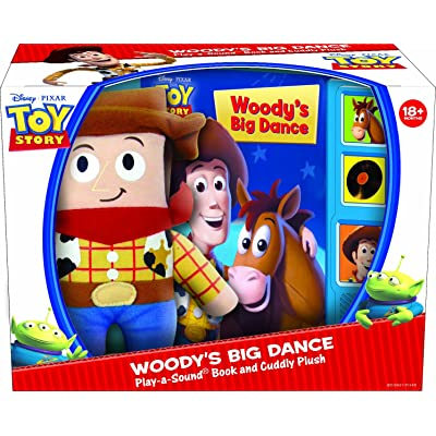 Toy Story Woody's Big Dance Play-a-sound Book and Cuddly Woody : Baby Toys : Baby