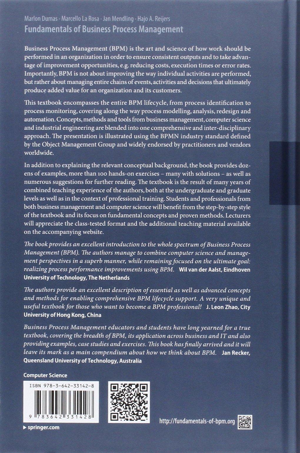 Fundamentals of Business Process Management: Amazon.de: Marlon Dumas ...