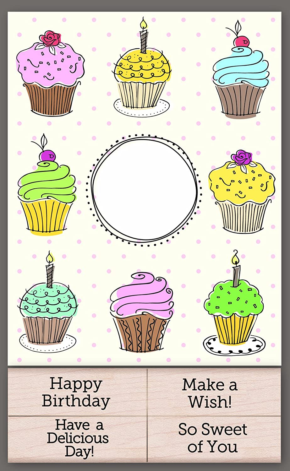 Hero Arts Add Your Message Cupcake Cards with Messages