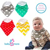Baby Bandana Bibs for Droolers, Fantastic Baby Shower Gift Great Combo Pack