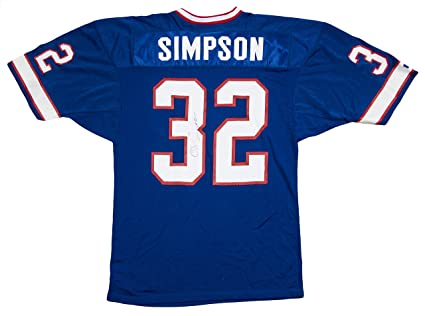 new arrival cb62a de57f O.J. SIMPSON SIGNED BUFFALO BILLS BLUE #32 JERSEY w/JSA SAN ...