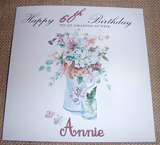 Handmade Personalised Birthday Card AUNTIE 18th 25th 30th 40th 50th 60th ANY AGE
