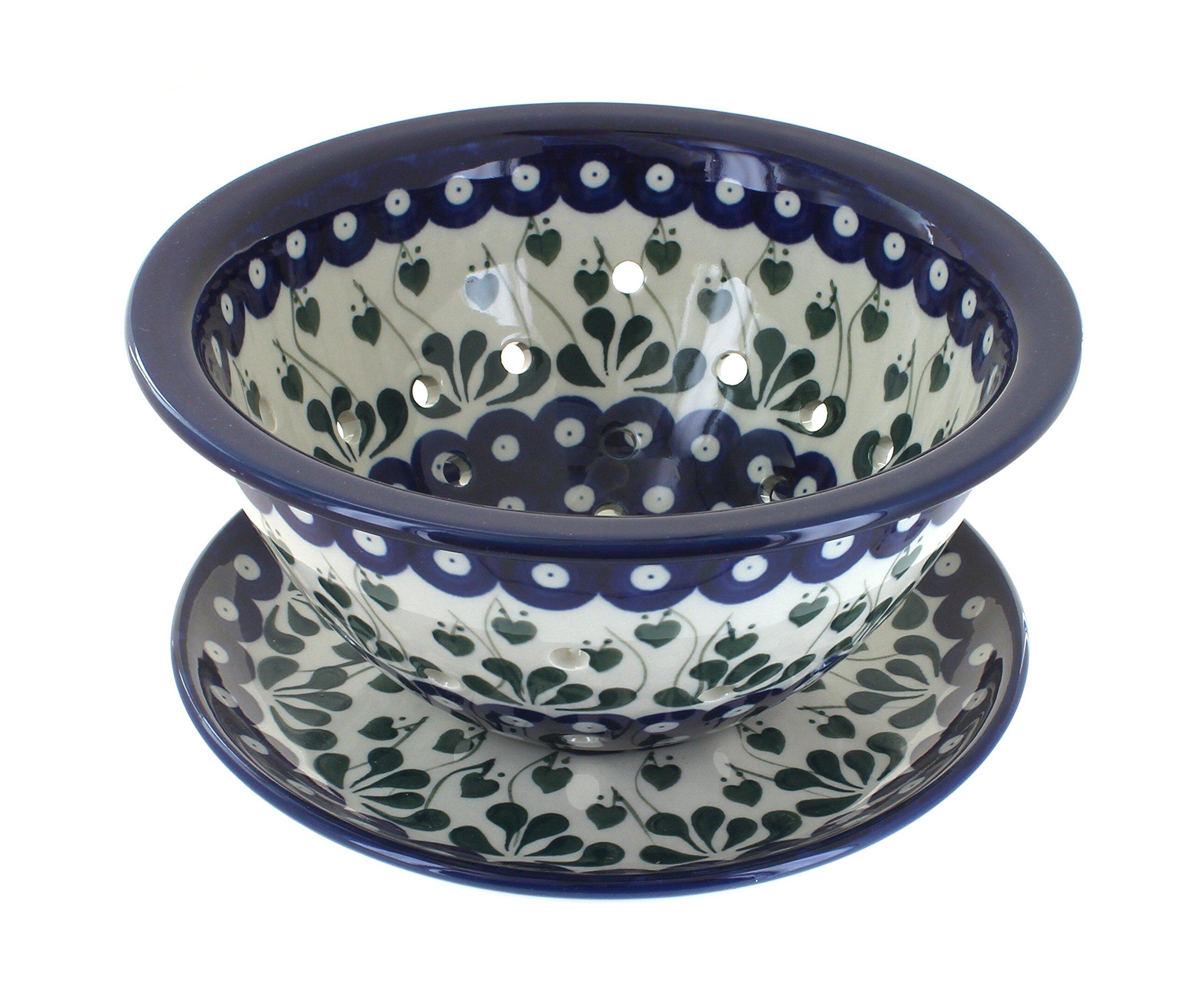 Polish Pottery Alyce Berry Bowl & Plate