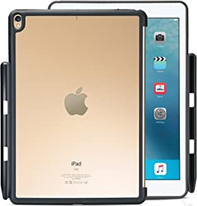 "ProCase iPad Air 10.5"" (3rd Gen) 2019 / iPad Pro 10.5 2017 Case, Companion Back Cover with Apple Pencil Holder for 10.5"" iPad Air/iPad Pro 10.5, Work with Apple Smart Keyboard and Smart Cover -Clear"