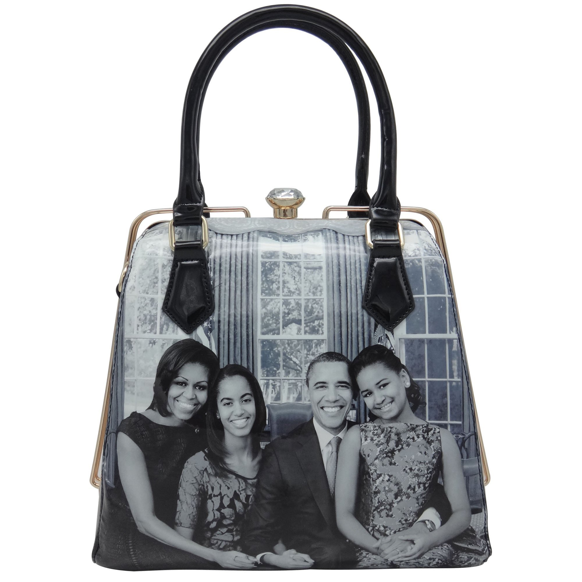 Michelle Obama Family Style Diamond Topped Tote