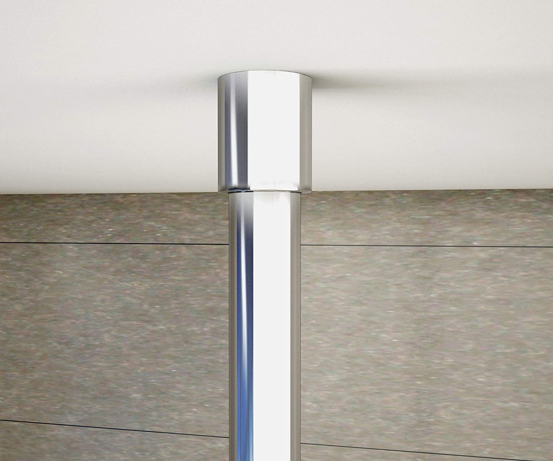 Paroi de douche 120x200cm en 8mm verre anticalcaire et livr/é une barre de fix/é /à plafond