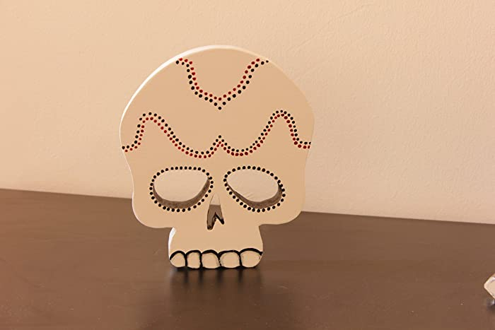 Amazoncom Sugar Skull Wooden Decor Pattern Halloween Scary Home