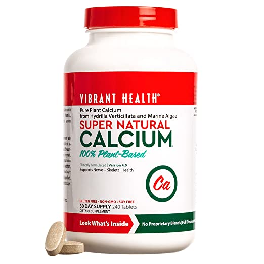 Vibrant Health Super Natural Calcium plant-based calcium supplement
