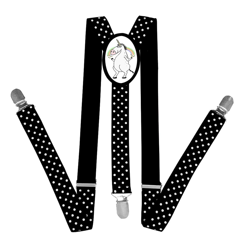 Nice Unique Clipart Unicorn Suspender Unisex Suspender Adjustable Y-Back