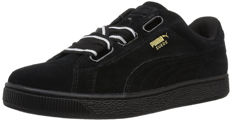 PUMA Women's Suede Heart Satin Wn Sneaker B0733TCG61 7.5 M US|Puma Black-puma Black