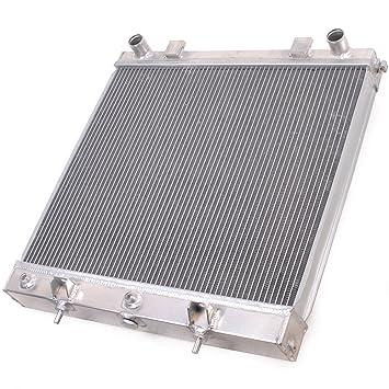 52mm alto flujo aluminio doble núcleo motor raza radiador de enfriamiento