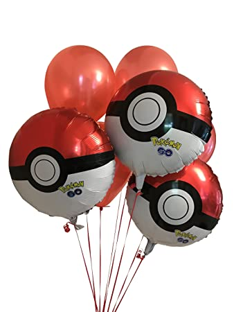 Amazon Pokemon Pokeball 8 Pack Party Balloons 3 Pokeball