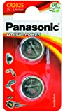 Panasonic Cr2025 Micropile al Litio, Argento (2 Pezzi)
