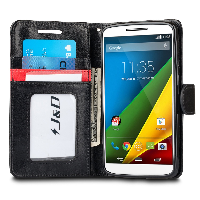 J&D Case Compatible for Moto Droid Turbo 2 Case, Moto X Force Case, [Wallet Stand] [Slim Fit] Heavy Duty Protective Shockproof Flip Wallet Case for Motorola ...