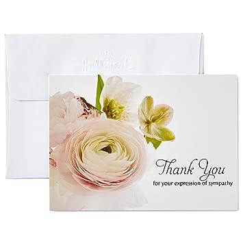 Amazon Com Hallmark Thank You For Your Sympathy Cards Soft Bouquet