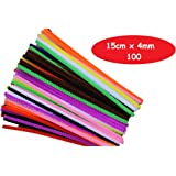 Kids B Crafty 100 Pipe Cleaners Assorted Colours 15cm x 4mm