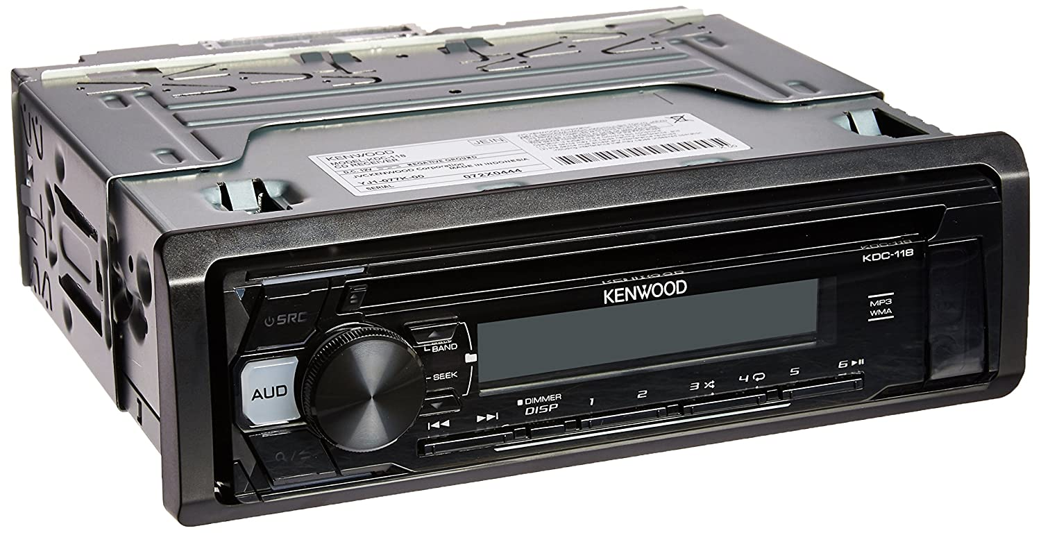 Amazon.com: Kenwood KDC-118 in-Dash 1-DIN CD Car Stereo Receiver with Front  AUX Input: Cell Phones & Accessories