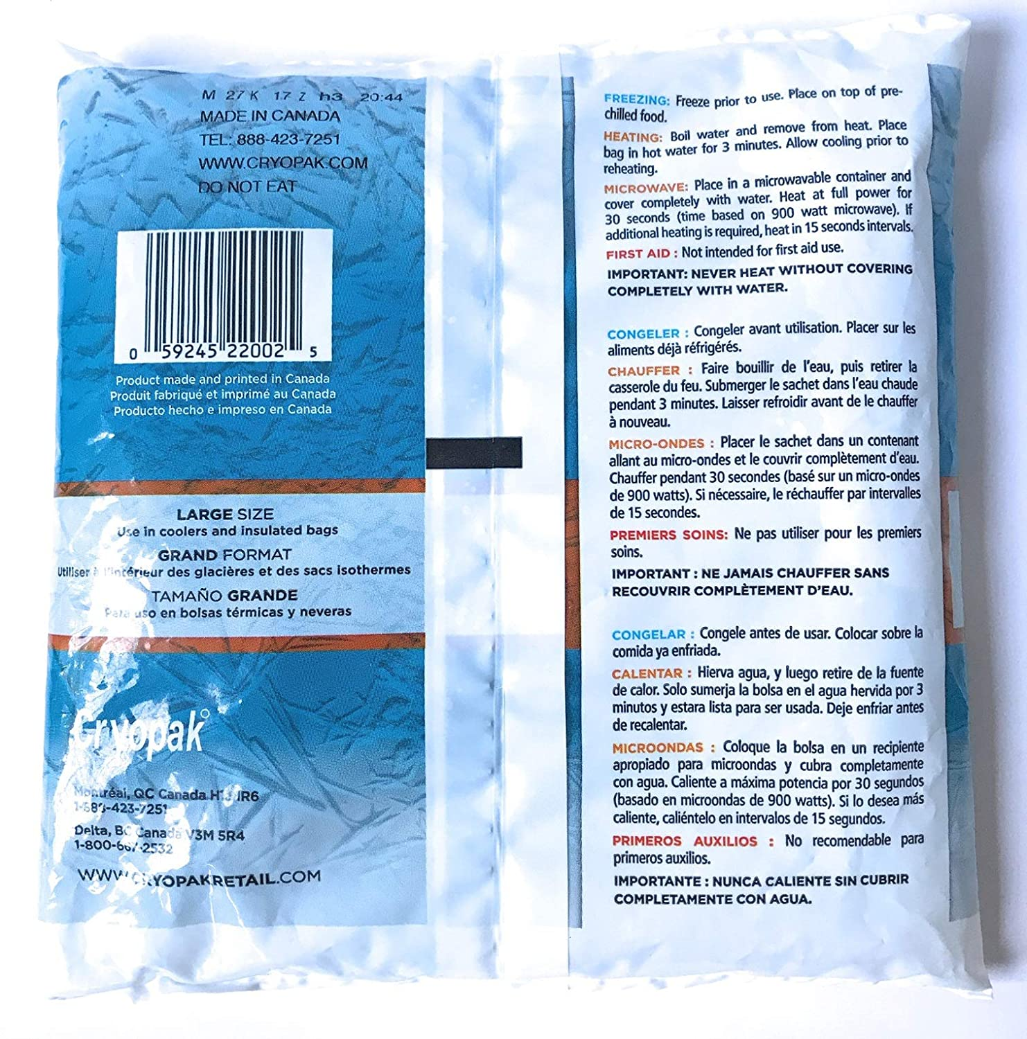 Amazon.com: Cryopak Reusable Soft Ice Packs - Pack of 2 ...