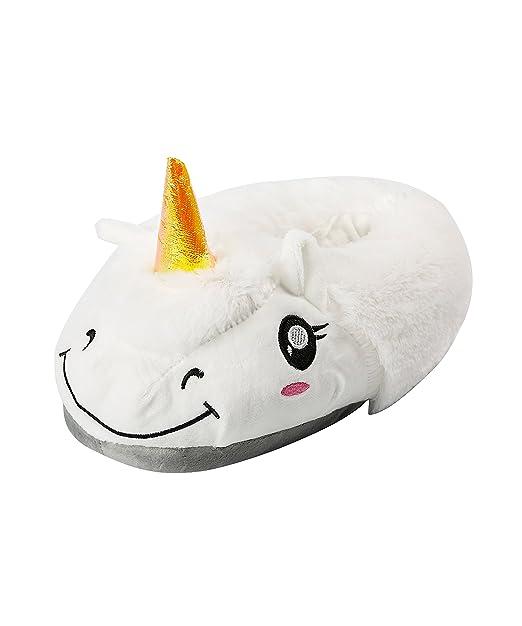 AKAAYUKO Zapatillas de Unicornio Blanco Felpa Pantuflas Animales: Amazon.es: Ropa y accesorios