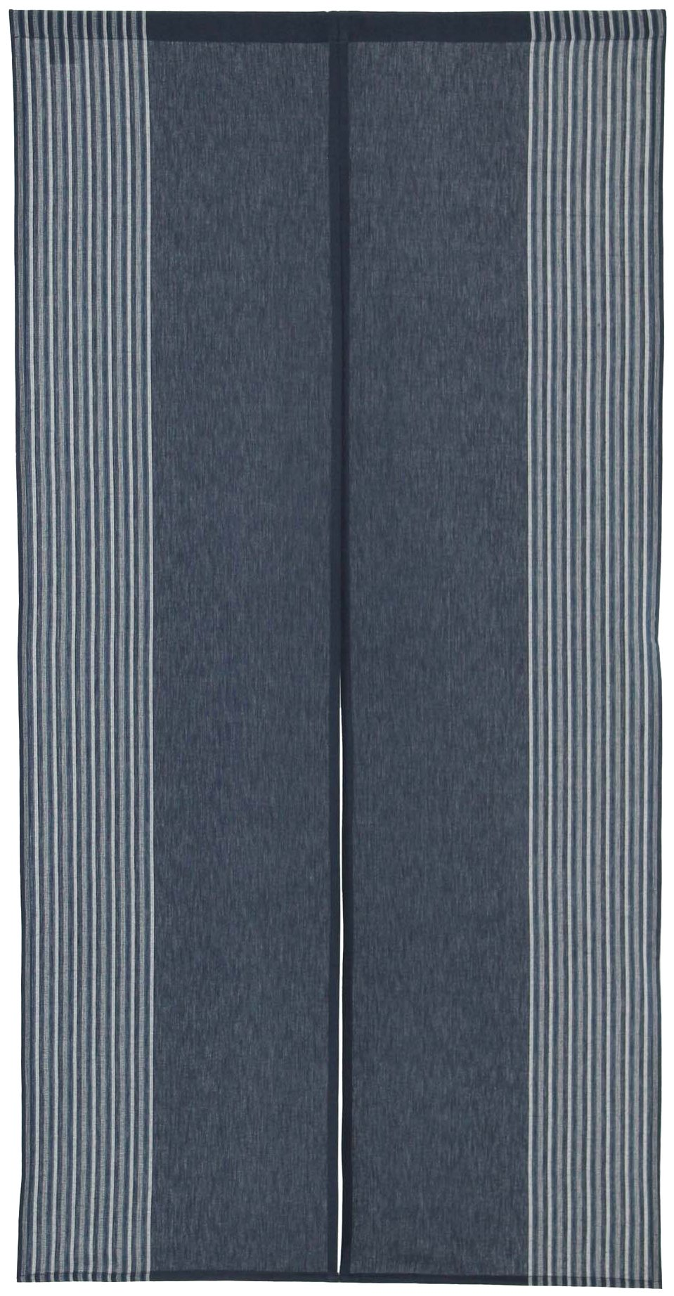 Vertical Stripe Navy Blue Cotton Cloth Japanese Noren Curtain Tapestry