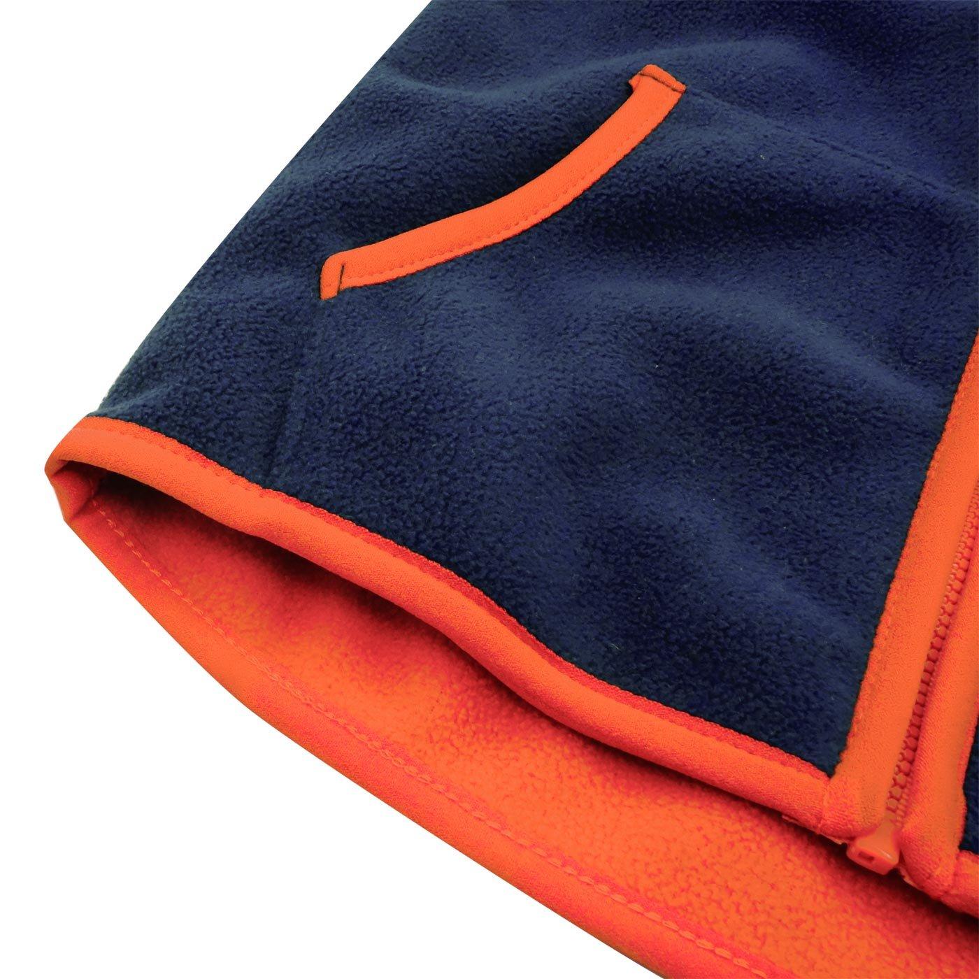 Aivtalk Girls Fleece Vest Zipper Up Warm Pocket Sleeveless Jacket 2-8T