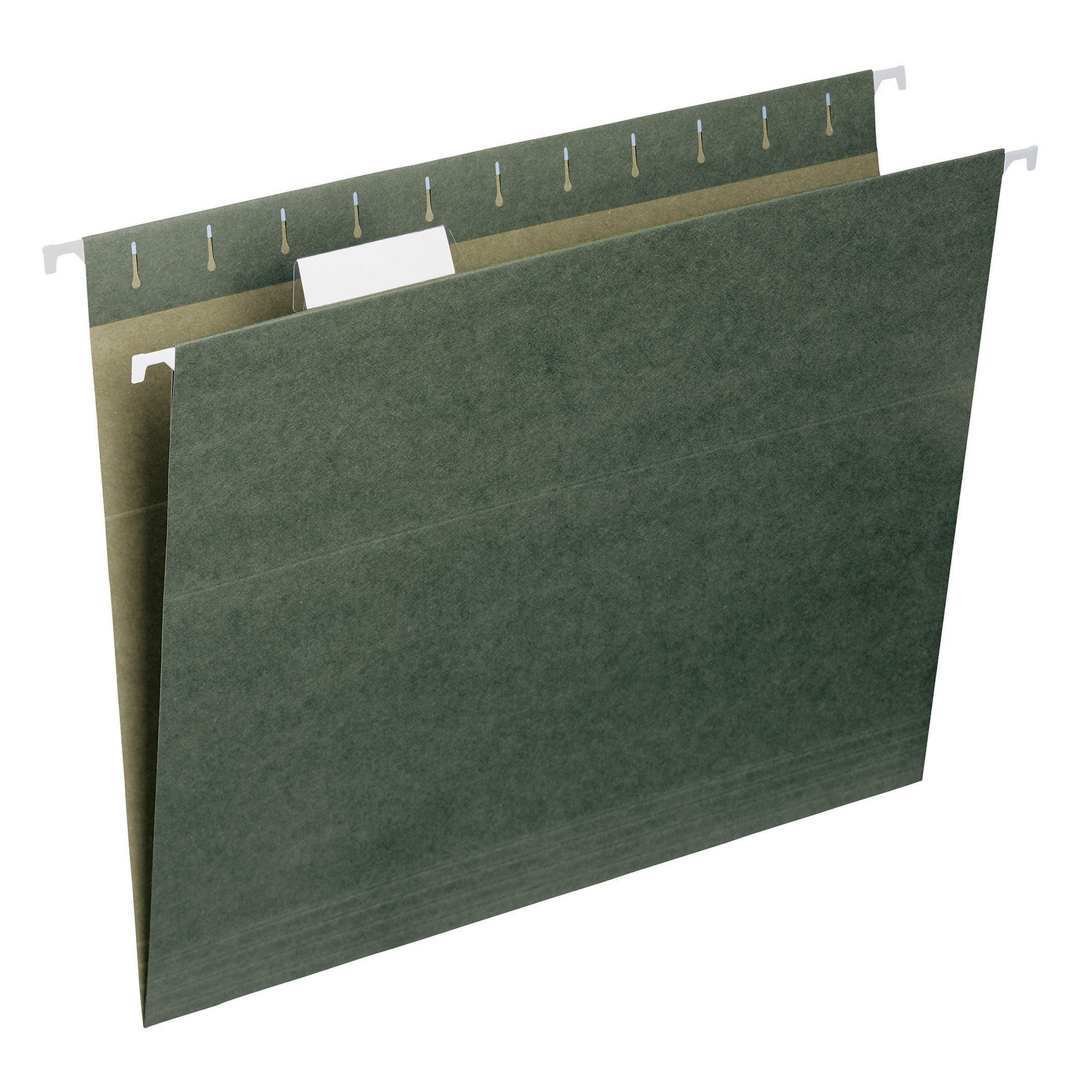 Smead Hanging File Folder with Tab, 1/5-Cut Adjustable Tab, Letter Size, Standard Green, 50 per Box (64029) by Smead
