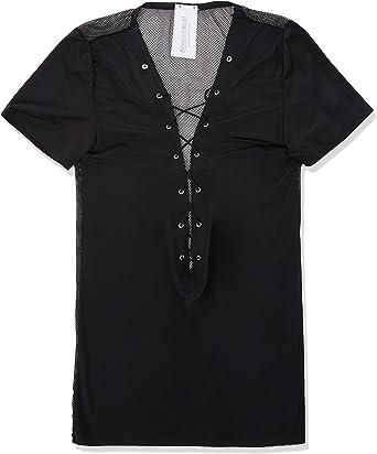 Svenjoyment Camisa Negra de Malla con Espalda de Rejilla: Amazon.es: Salud y cuidado personal