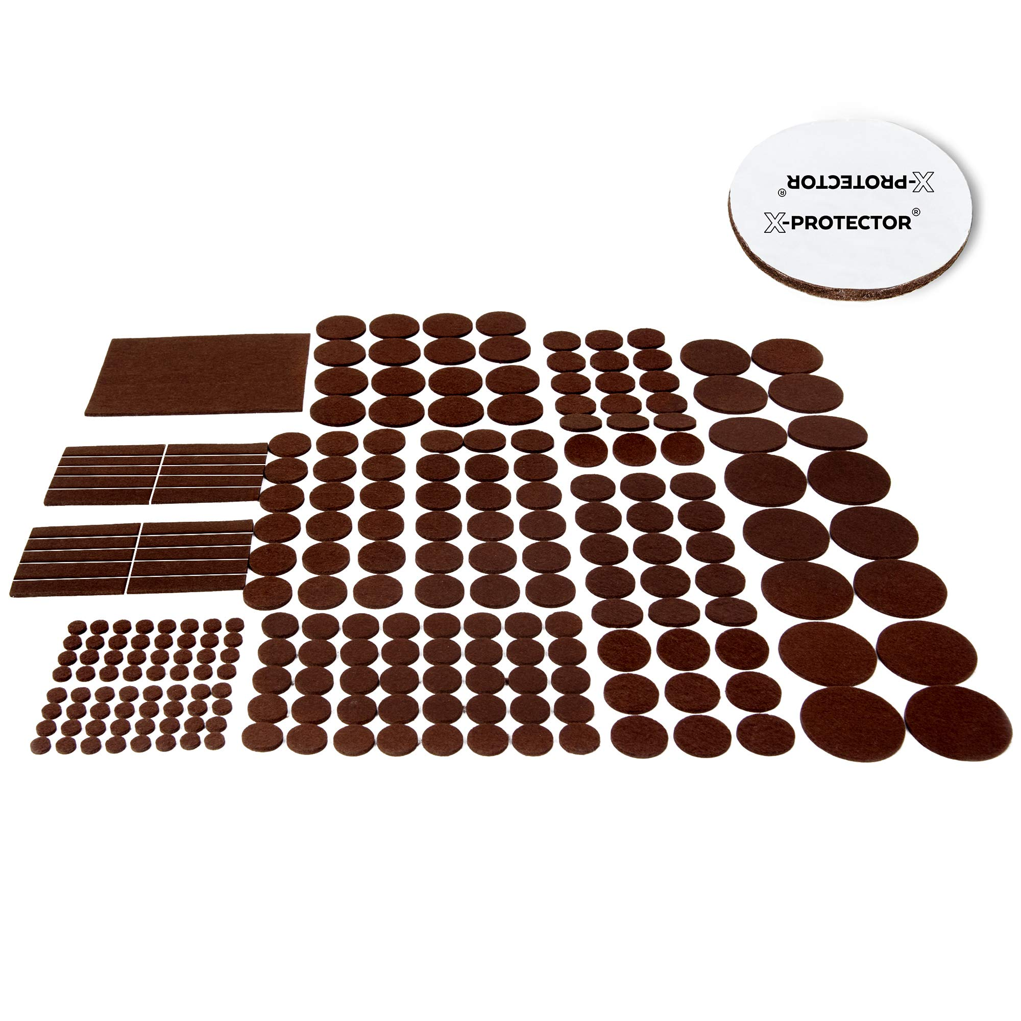 X-PROTECTOR Premium GIANT Pack Furniture Pads 235 piece! GREAT QUANTITY of Felt Pads Furniture Feet with MANY BIG SIZES – Your Best Wood Floor Protectors. Protect Your Hardwood & Laminate Flooring!