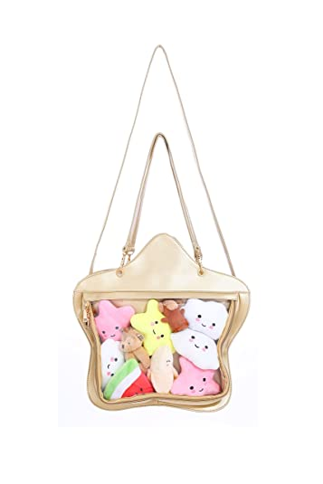Amazon.com: Fascinante transparente Candy Leather Bolso ...