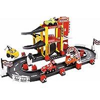 Circuito F1 de 3 alturas con 4 vehículos