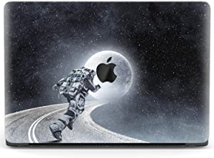 Mertak Hard Case for Apple MacBook Pro 16 Air 13 inch Mac 15 Retina 12 11 2020 2019 2018 2017 Road Clear Stars Shell Moon Laptop Space Cover Girls Protective NASA Woman Design Astronaut Race Plastic