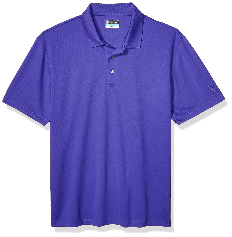 PGA TOUR Mens Airflux Short Sleeve Solid Polo-Shirts