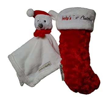 e6fd3e2c83d Image Unavailable. Image not available for. Color  Blankets   Beyond Babys  1st Christmas Stocking ...