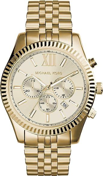 Michael Kors Reloj Cronógrafo para Hombre de Cuarzo con Correa en Acero Inoxidable MK8281: Michael Kors: Amazon.es: Relojes