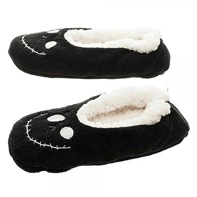 nightmare before christmas jack cozy adult slipper socks lxl black