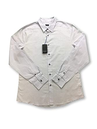 Paul Smith Slim fit Shirt in Sky Blue with Purple Dots - M: Paul ...