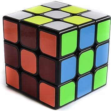 Speed Cube Cubo de Rubic Mágico 3x3 Moyu MF3 Cubing Classroom Negro más REGALO de 1 Llavero Peluche Emoji Emoticonos: Amazon.es: Juguetes y juegos