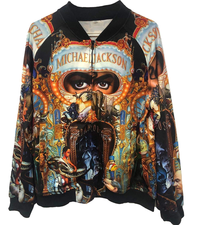 Abrigos Chaquetas de Michael Jackson Abrigos de Sudadera con Impresi/ón 3D Punk Abrigos