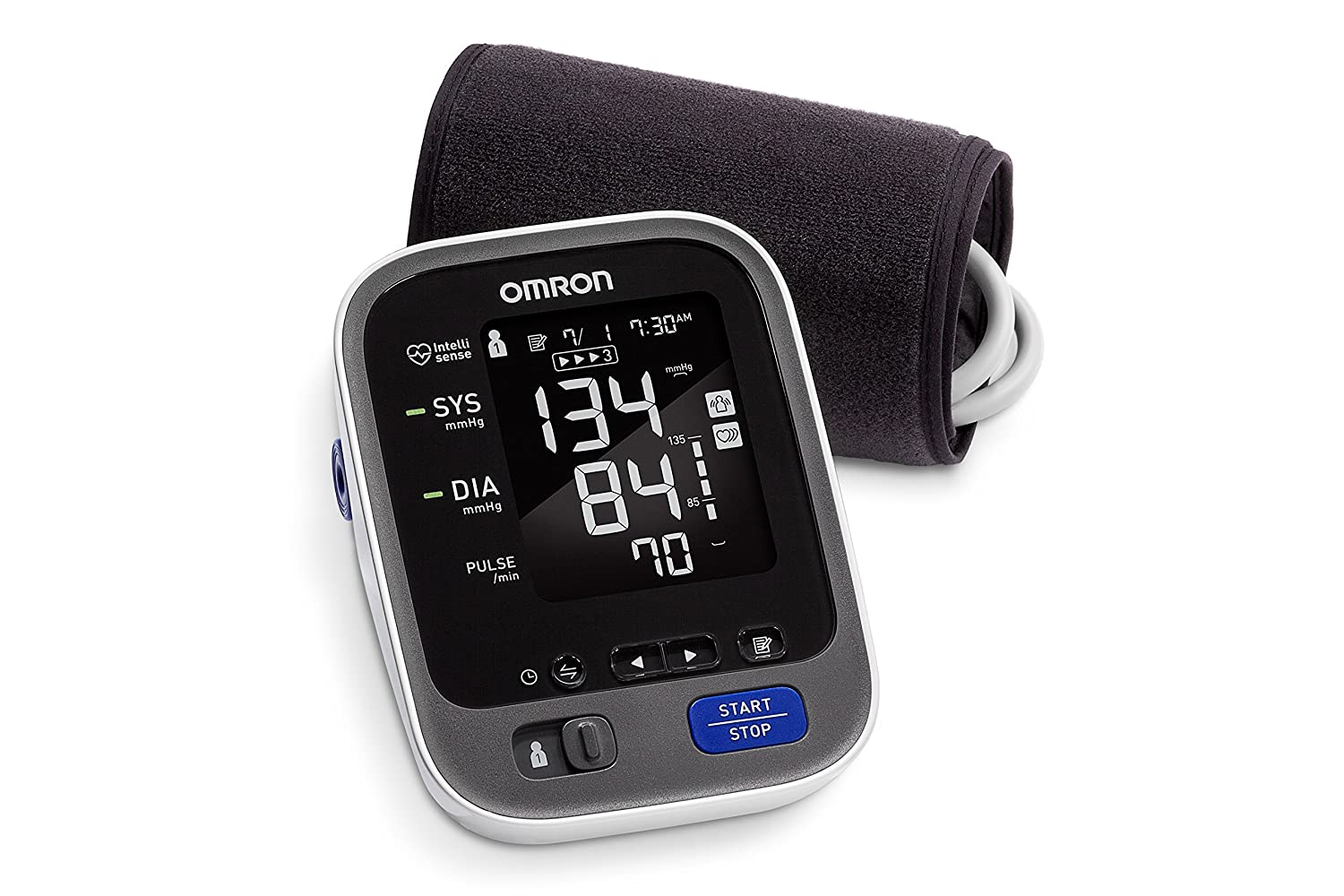Omron 10 Series Wireless Upper Arm Blood Pressure Monitor; 2-User, 200-Reading Memory, Backlit Display, TruRead Technology, Bluetooth® Works with ...