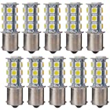 XCSOURCE 10PCS Warm White 1156 BA15S/1141/1073/1095 Base 18 SMD 5050 LED Replacement Bulb For RV Camper SUV MPV Car Turn Tail Signal Brake Backup Light MA241