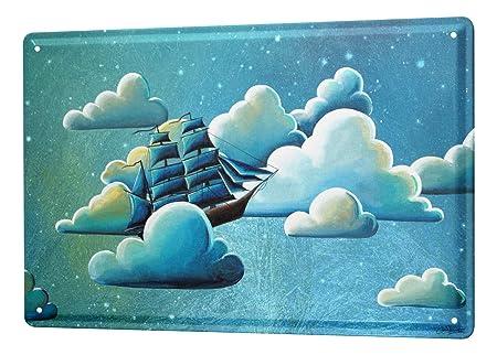 Cartel Letrero de Chapa Motivos De Fantasía Navegantes de la ...