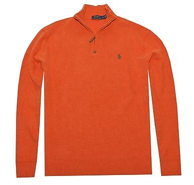e531e7955de Image Unavailable. Image not available for. Color  Polo Ralph Lauren Men  Half Zip French Rib Cotton Sweater ...